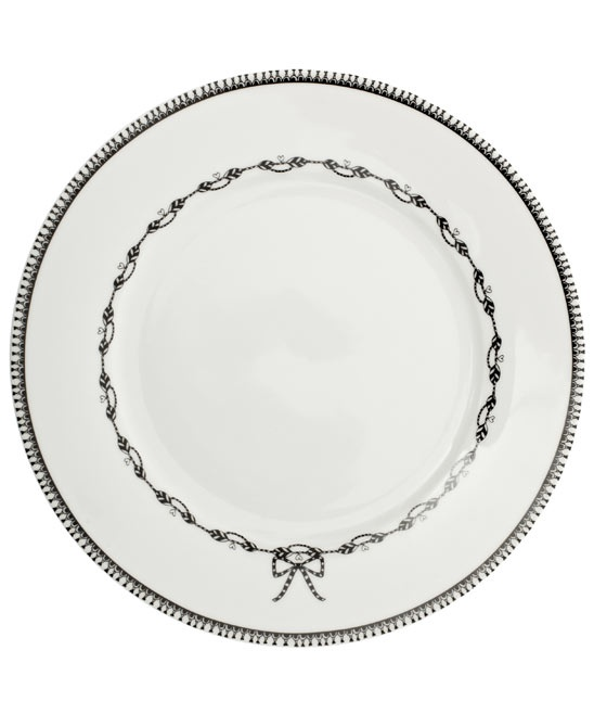 White Miss Blackbirdy Chain 22cm Plate, PiP Studio
