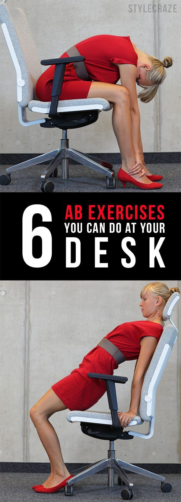 6 Easy Ab Exercises You Can Do At Your Desk