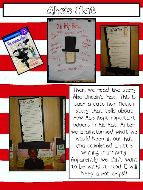 Mrs. Plant's Press: presidents day - what is in YOUR hat?!
