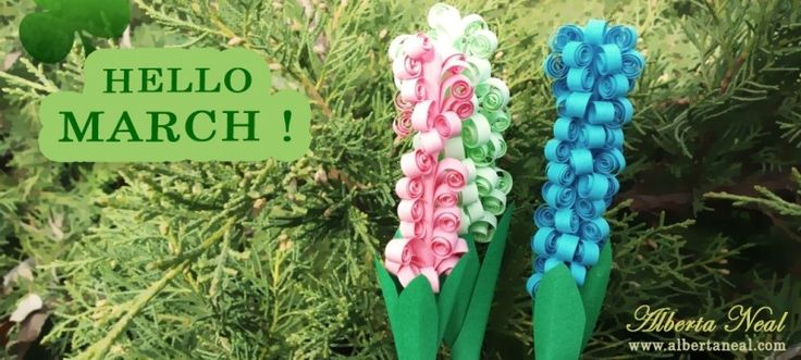 A beautiful spring for beautiful people! http://albertaneal.com/ #AlbertaNeal #quilling