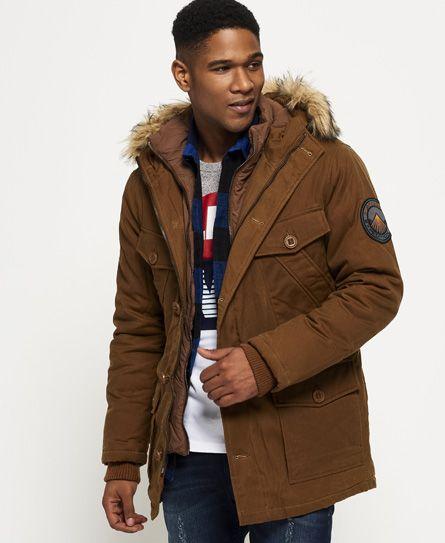 Superdry Everest Wax-jakke Beige