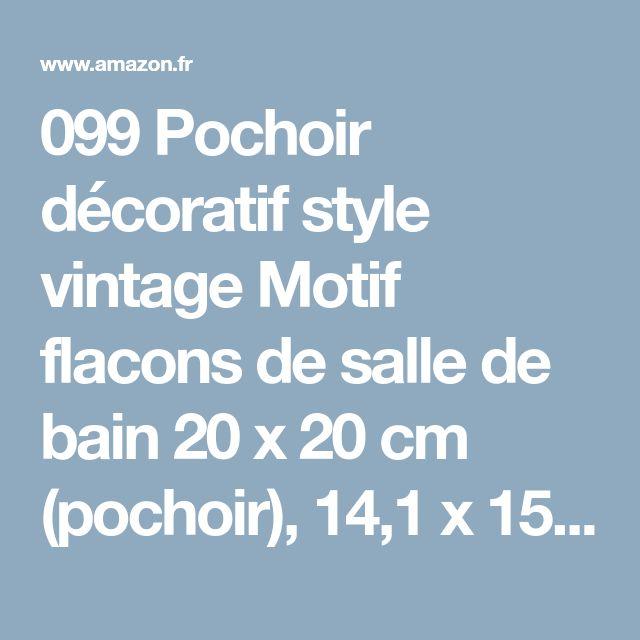 099 pochoir dcoratif style vintage motif flacons de salle de bain 20 x 20 cm - Pochoir Salle De Bain