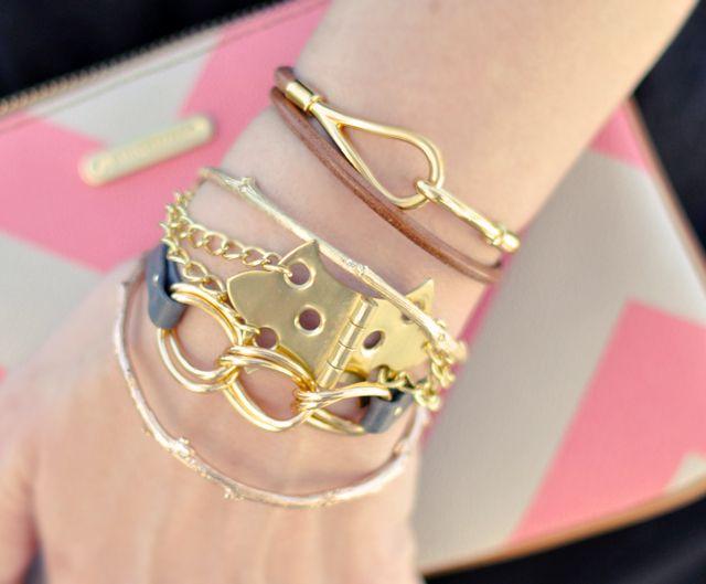 DIY Hinge Bracelet w/ Gold Chains