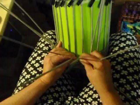 pletení na drátech  cibulový koš