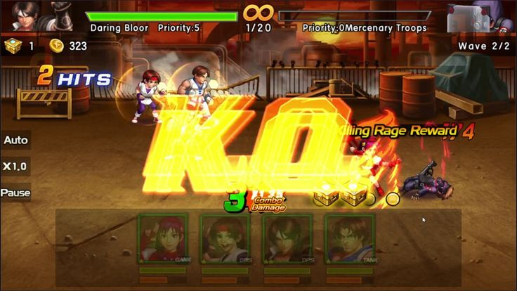 KOF 98 UM OL BRAWLER Game 2 - KOF'98 UM OL is a Free Android Classic fights combined with Collectible Card Multiplayer Game featuring an expansive roster of classic characters