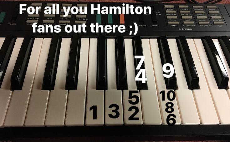 Hamiltonmusical Hamiltonthemusical Pianokeys Piano Oppiminen