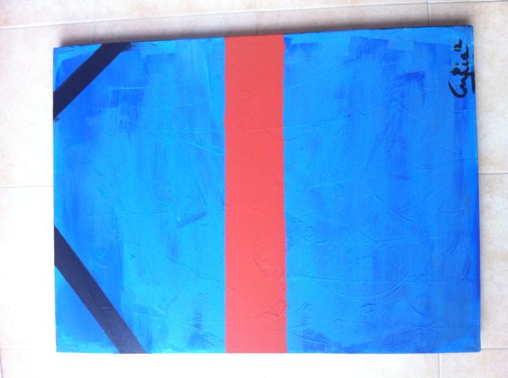 Painting Blue&Stripes 70x90cm acrilic on canvas Milan Italy 2013/2015