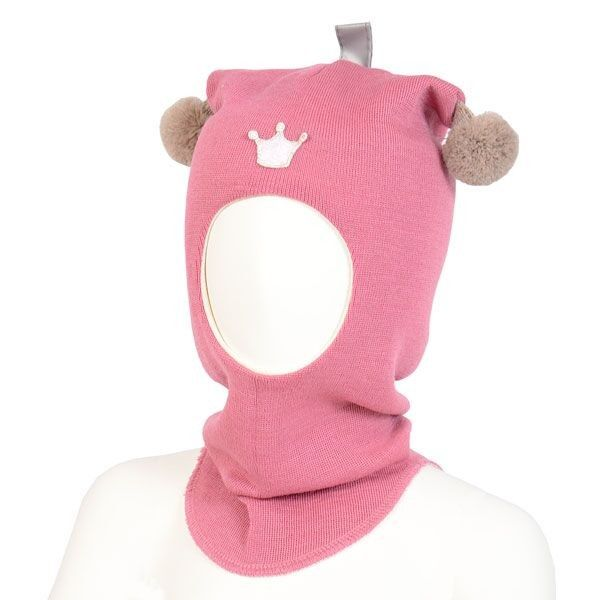 Kivat lue, rosa balaclava med refleks og dusker | DressMyKid.no - Barn og baby - Alltid gode tilbud