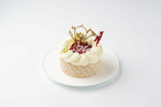 クリスマス限定ケーキに野いちどのトッピング❤ -野いちごのデザート