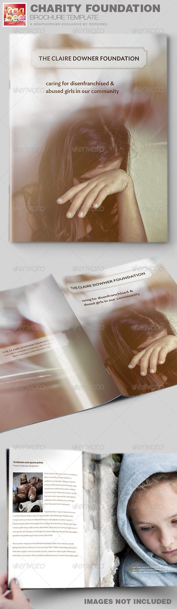 This Charity Foundation Brochure Template is sold exclusively on graphicriver. It is great for any type of Charity or Business that needs a clean, professional, modern brochure template for marketing their products and services.