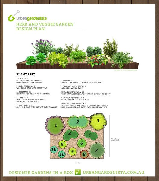 Kitchen Garden Planner: Planting Plan For An Easy Raised Bed Kitchen Garden