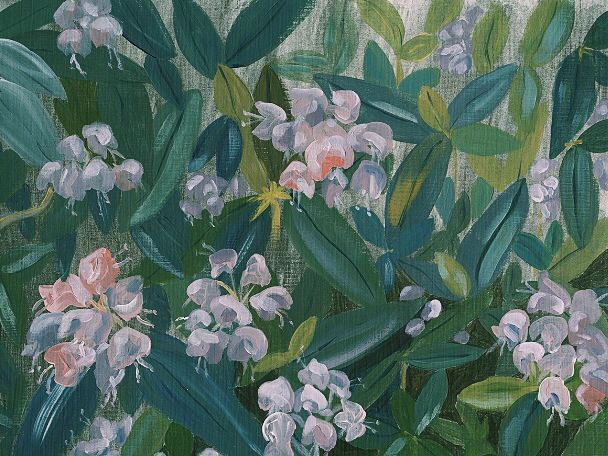 Rhododendron. Acrylic on canvas 2014