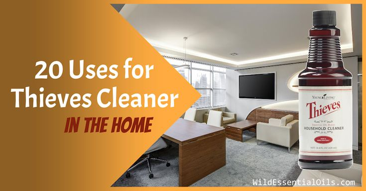 Thieves Household Cleaner can be used in all rooms in the home to clean and sanitise. Explore 20 uses for Thieves Cleaner in the home.
