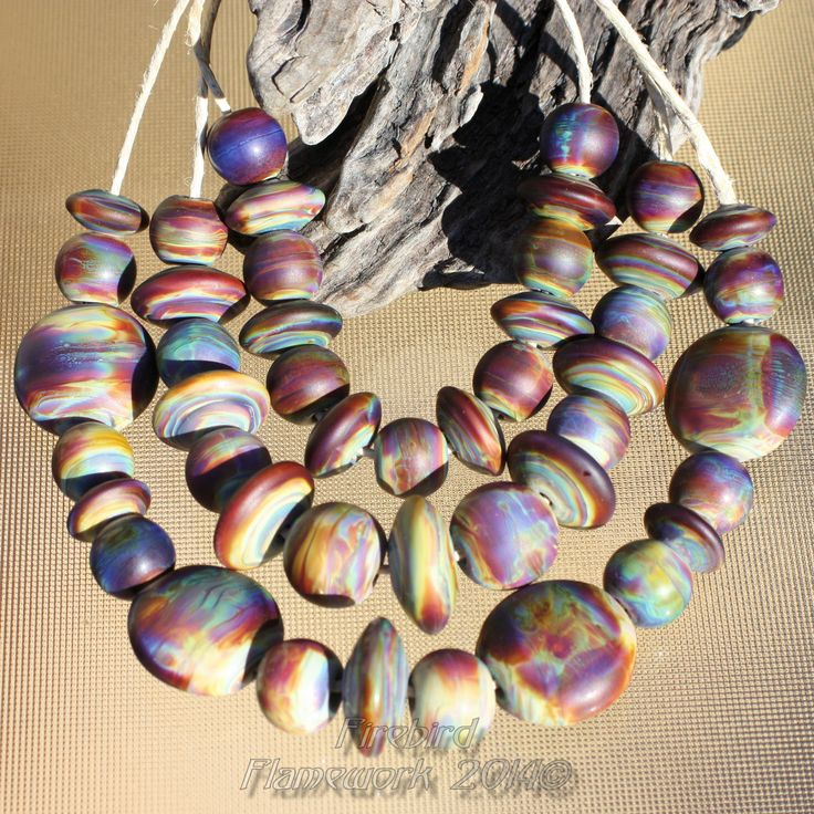 """""""Obsession"""" Bead set - 2011 Gaffer G109 - Chalcedony"""