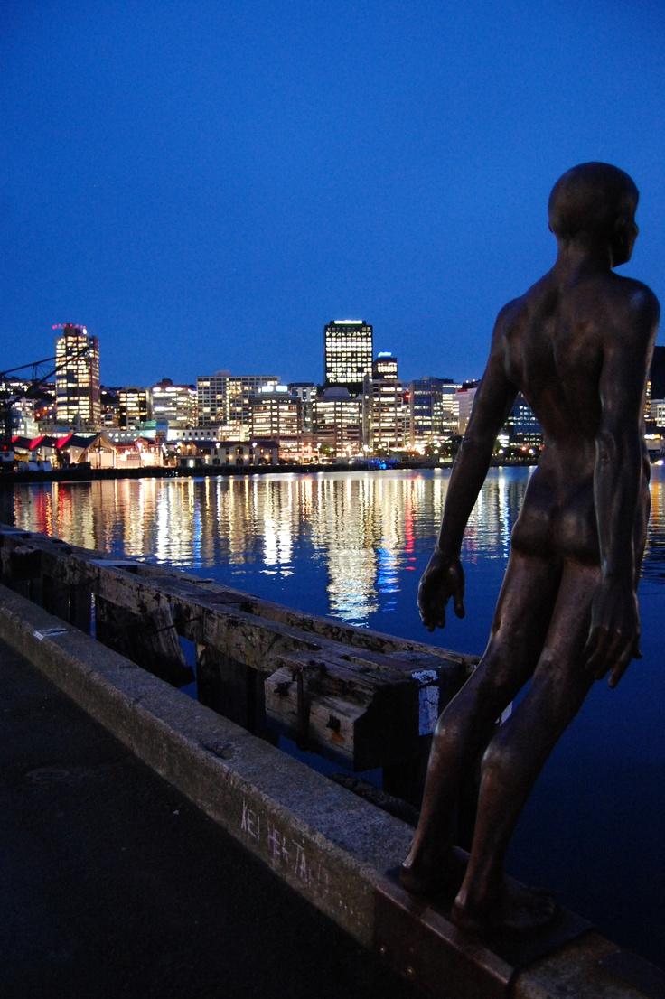 Sculptures..Overlooking Wellington Harbour, New Zealand