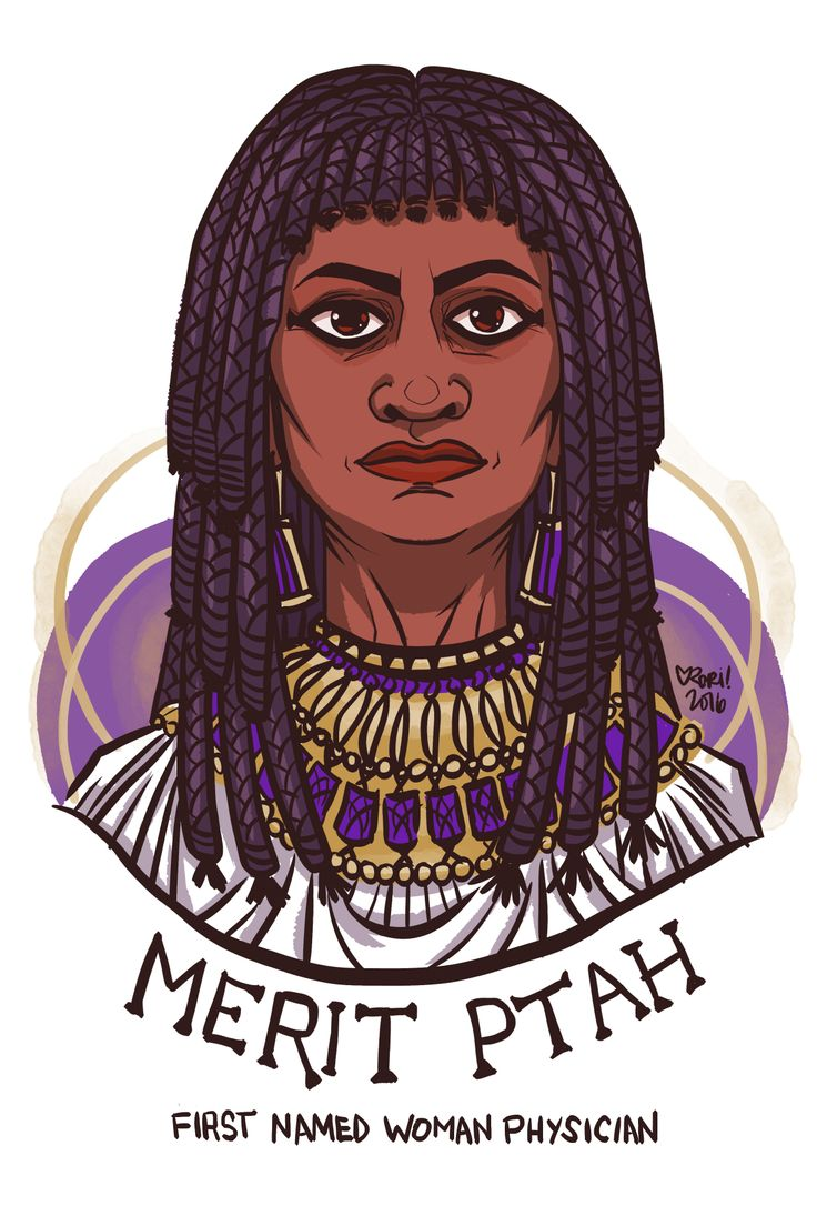 59.	Day 59: Merit-Ptah, first named female physician practiced medicine in Egypt nearly 5,000 years ago. https://en.wikipedia.org/wiki/Merit-Ptah