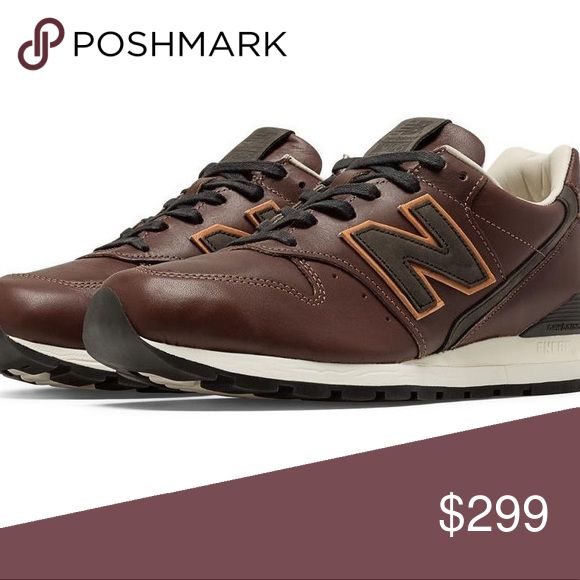 New Balance 996 Bespoke Crooners Brown Leather New BRAND NEW in original box with NB white cloth. Mens size 10 in Brown. RARE - sold out everywhere!  Note: Color is a true brown - closest to the stock pics vs. my own photo (last) which looks a bit burgundy  A smooth silhouette fit for a night out, the 996 Bespoke Crooners men's sneaker features ABZORB cushioning in the midfoot provides exceptional shock absorption. ENCAP midsole technology provides support and maximum durability. Premium…