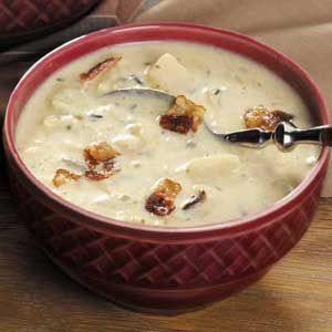 Cold weather is here...time for some good soup. This cheesy wild rice looks easy and yummy!