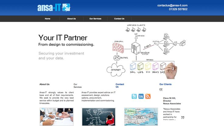 Ansa-IT provides expert advice on IT assessment, design, solutions options, procurement, implementation and commissioning. http://www.ansa-it.com/