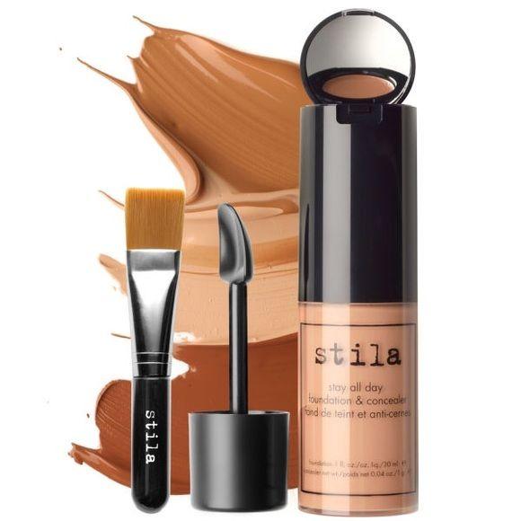 Stila Stay All Day Foundation, Concealer brush kit Brand new in box. Color Hue #5 Stila Makeup Foundation