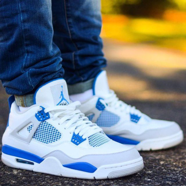 sports shoes 4a1dd f2ab6 Jordan 4 Military Blue | Shoes in 2019 | Sneakers nike ...