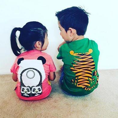 Cohabitation réussie entre un #panda et un #tigre. #teeshirt .We ❤  that pic from Sweet Little Bubba Kids Boutique http://www.coqenpate.com/11-t-shirts-enfants