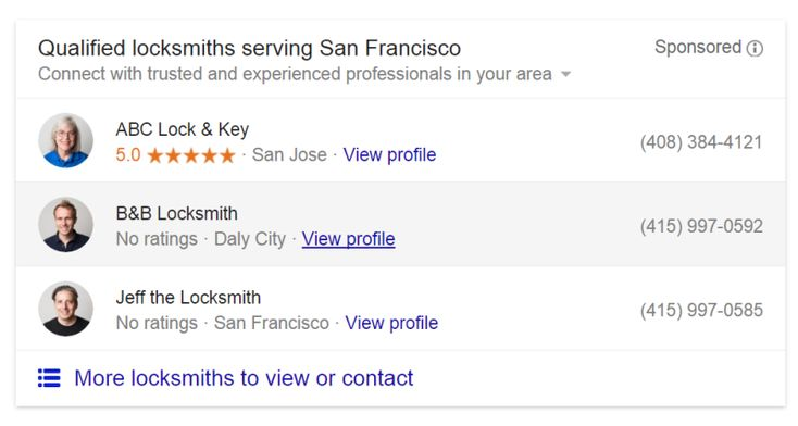 Google Enters Home Services Market With New Ads Test Ads for locksmiths and plumbers are now appearing on some queries in the San Francisco Bay Area.