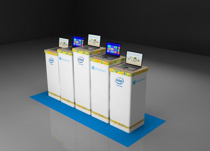 Рекламно презентационные стенды торговой марки Microsoft