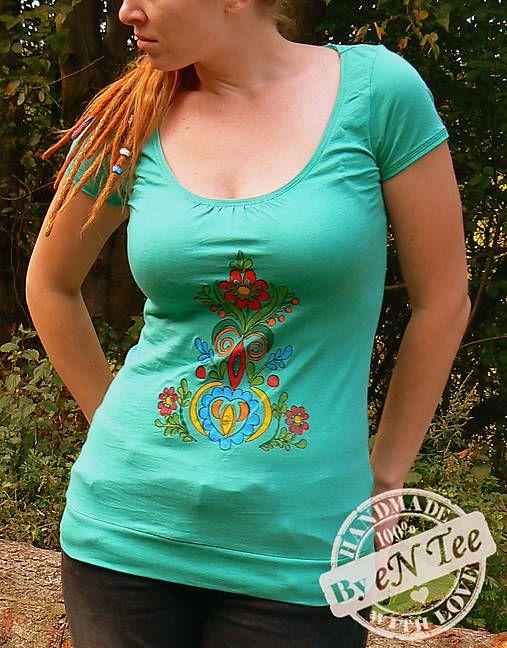entee / Zelené ľudové - dámske tričko