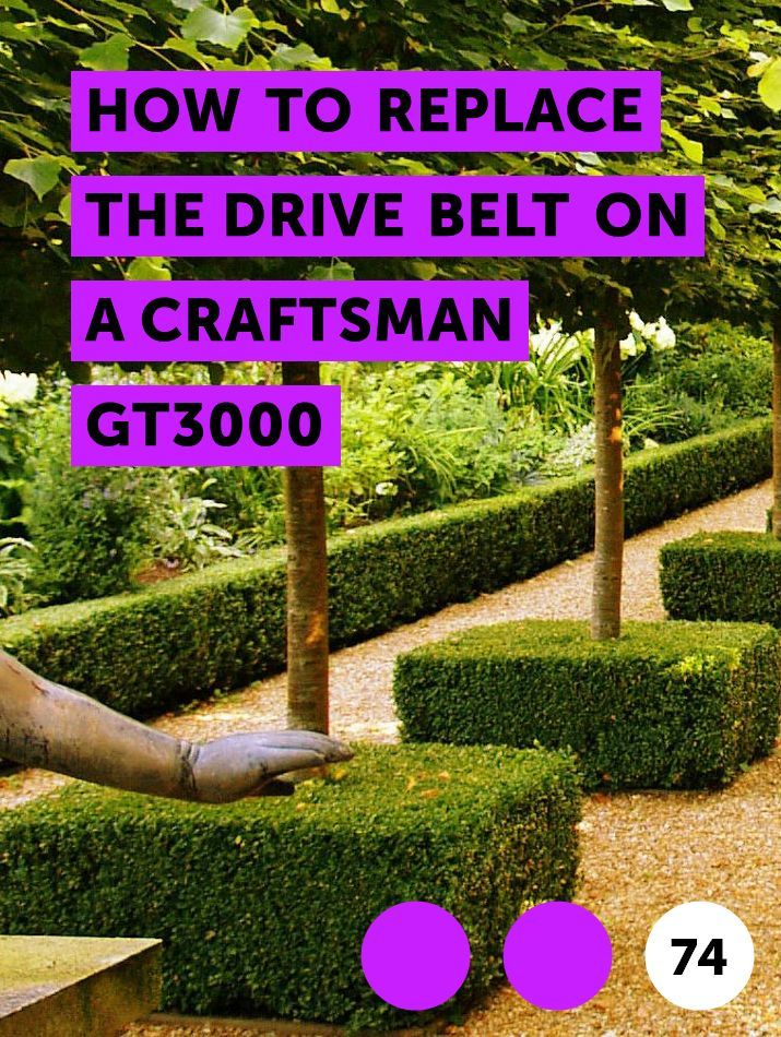 How to Replace the Drive Belt on a Craftsman GT3000 | Lawn