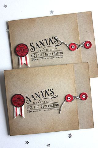 Santa Stationery Revisited - Nice List Declarations by Heather Nichols for Papertrey Ink (December 2014)