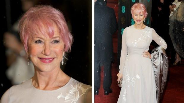Helen Mirren, 67, debuts pink hair - I love it. It looks gorgeous.