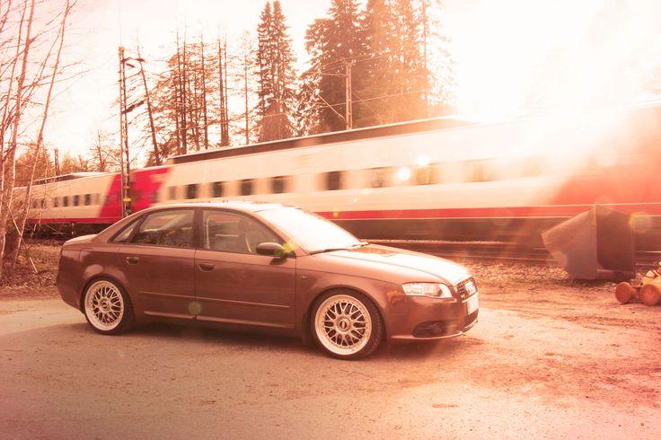 Brown metallic vinyl wrapped Audi A4. http://shop.eteippi.fi/