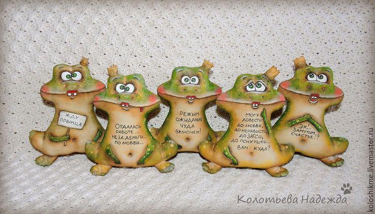 Купить Лягухи Царевны - коричневый, кофейные позитивчики, кофейные игрушки, хорошее настроение, позитив