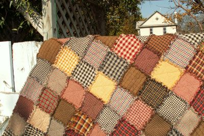 There's no easier way to stay warm than with a rag quilt pattern. Snuggle up under this free bed quilt pattern and stay warm and cozy under some soft cotton fabric. Putting it together couldn't be easier, and those who want a rustic look will particularly like this.
