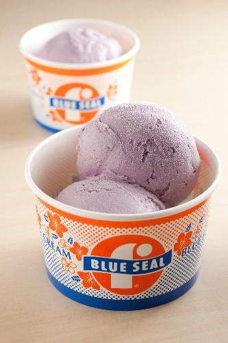 Ube-flavored ice cream from Blue Seal...basically anything ube flavored (purple sweet potato)