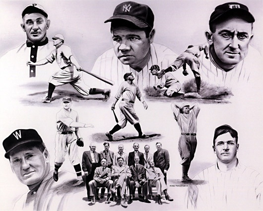 Image result for Baseball Hall of Fame elects first members 1936 images