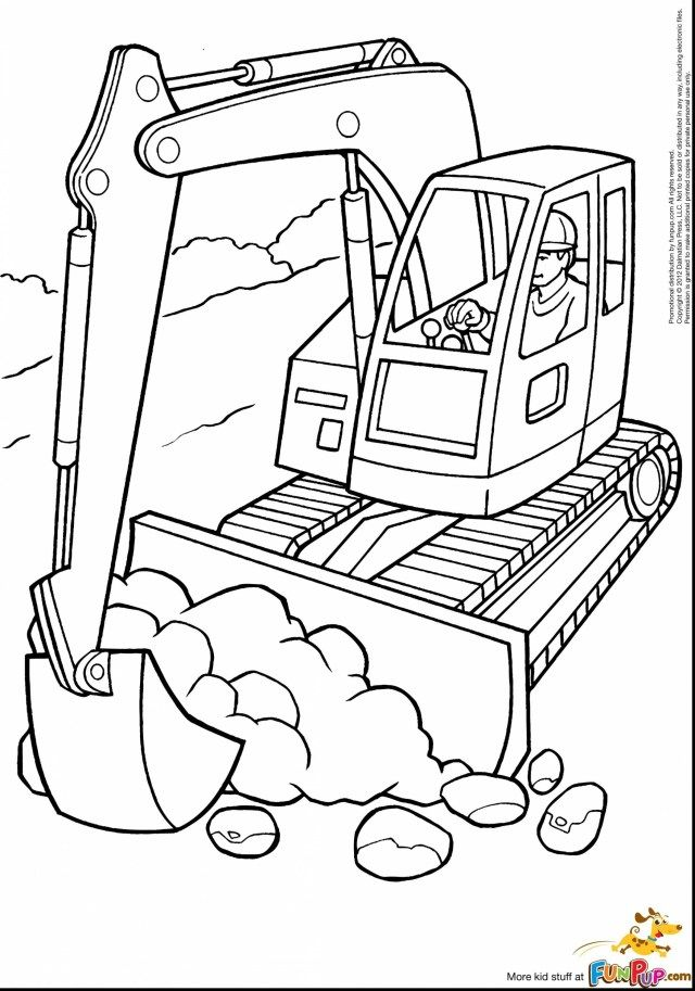 Inspired Picture Of Excavator Coloring Page Entitlementtrap Com Tractor Coloring Pages Truck Coloring Pages Printable Coloring Pages