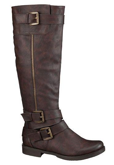 Meese riding boot with Buckles available at #Maurices(Wide calf ladies!)