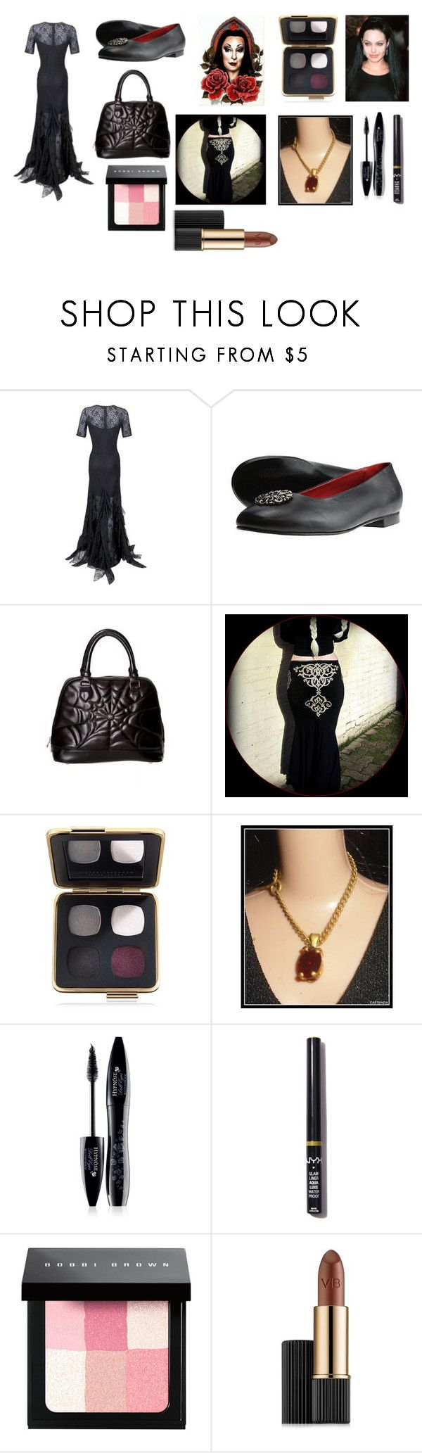 """For Scarlett (friend) - Scarlett's ideal wardrobe by me: Mortician dress!"" by sarah-m-smith ❤ liked on Polyvore featuring Nina Ricci, Estée Lauder, ANGELINA, Lancôme, NYX and Bobbi Brown Cosmetics"