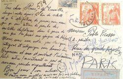Salvador Dali's letter to Pablo Picasso