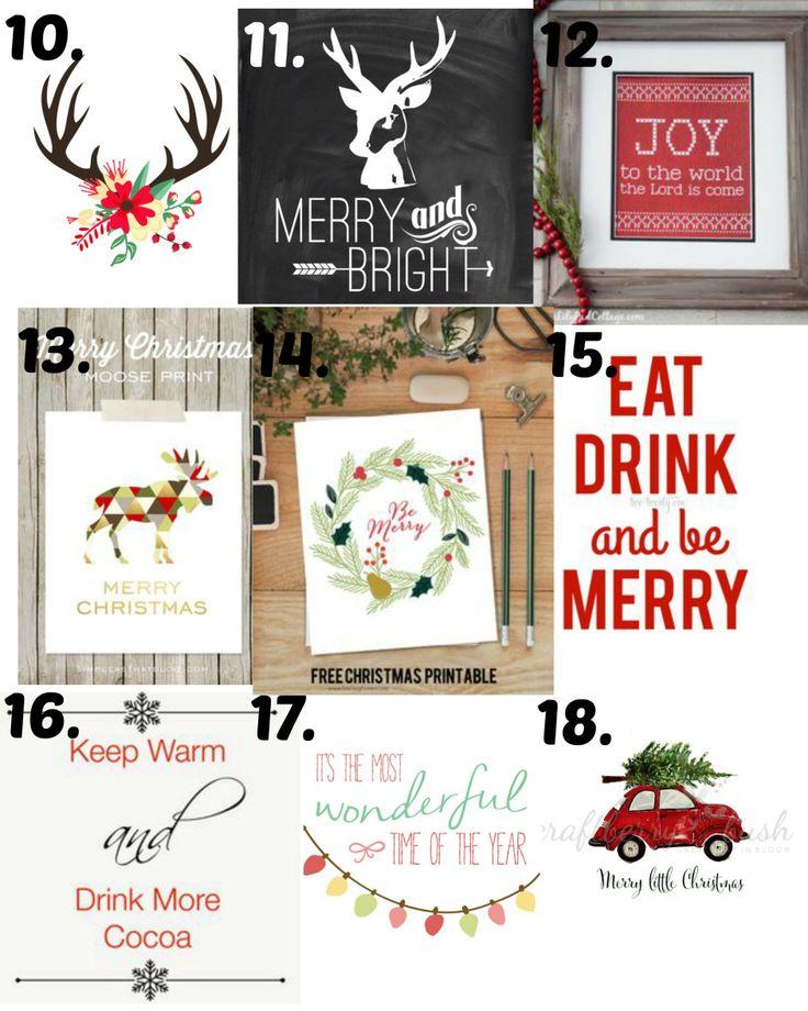 Christmas printables 10-18                                                                                                                                                                                 More
