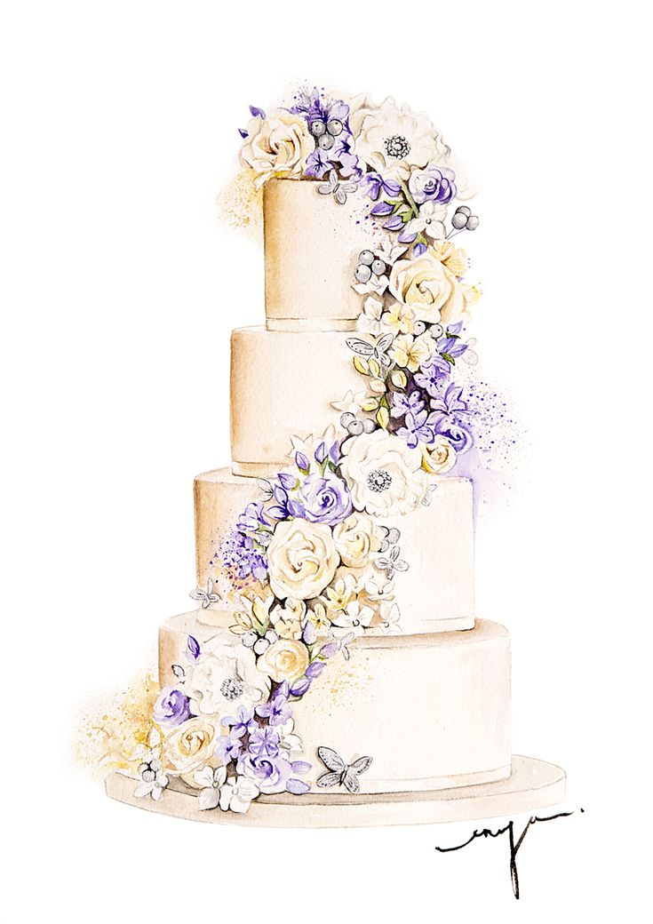 Floral wedding cake for CakeCompany UK