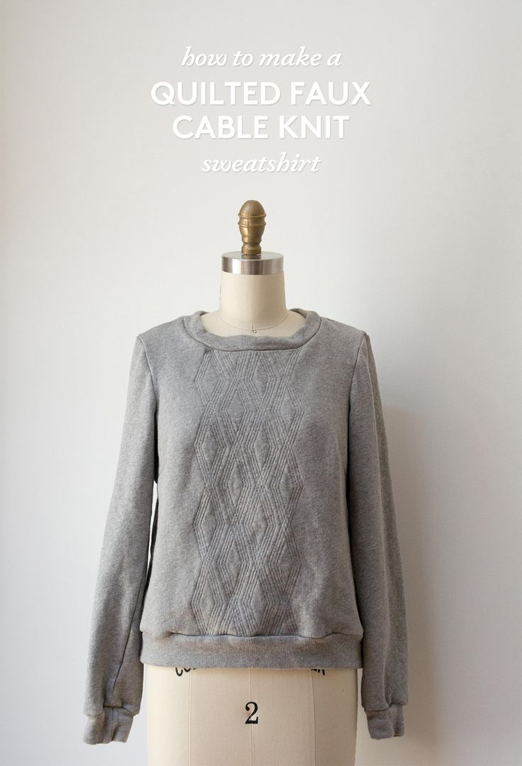 531 best apparel sewing inspiration images on pinterest sewing faux cable knit quilted sweatshirt tutorial via the sewing party jeuxipadfo Choice Image