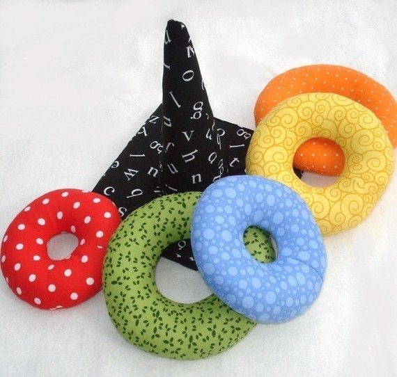 Ring Stacker Soft Toy. (Pattern for purchase.) What a great idea. Can be washable - toss into machine!