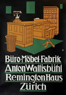 OTTO BAUMBERGER Buero Moebelfabrik Anton Waltisbuehl 1912