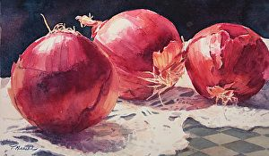Tammy Meeske WATERCOLOR I HATE Onions but this is an AWESOME painting. P