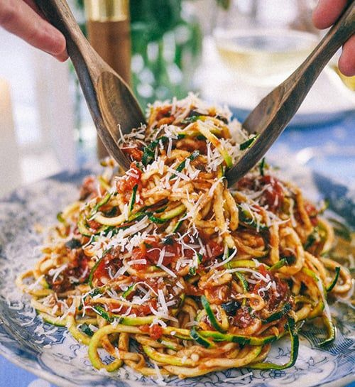 We've compiled some of our favourite healthy vegetable spiralizer recipes from zucchini noodles to sweet potato curly fries and vegetable spiral waffles.