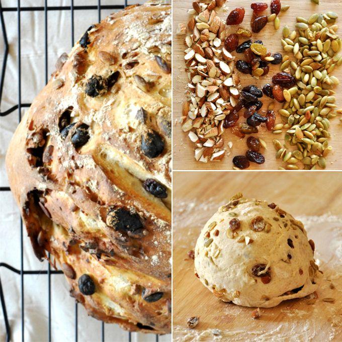 7 Ingredient Muesli Bread - VEGAN and requires just one bowl! #Vegan #Muesli #Bread