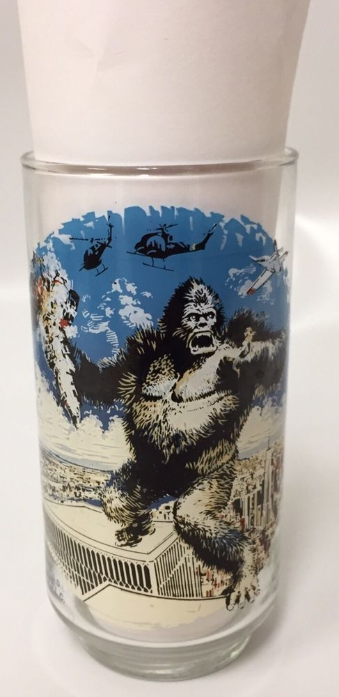 King Kong Movie Twin Towers Glass  World Trade Center Coca-Cola Planes 1976 Vtg #CocaCola